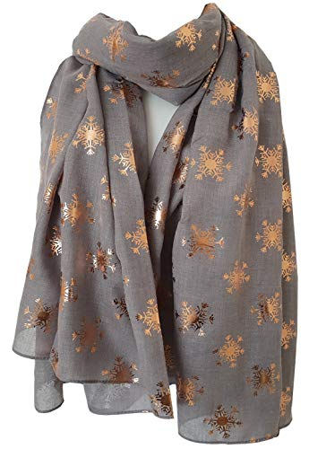 RED SPARKLING Reindeer Snowflakes Xmas Tree ALL IN ONE Print SCARF GIFT FOR HER